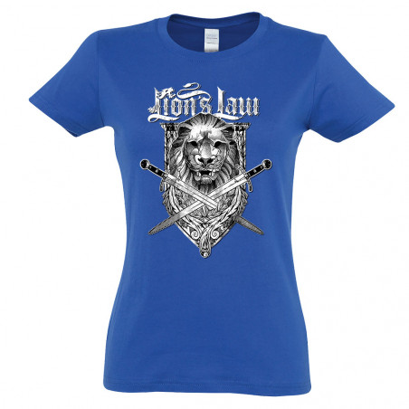 "T-shirt femme ""Lion and..."